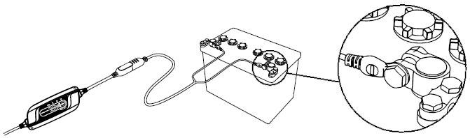 Batterieladegerät 12V · 5A - Dauerladekabelanschluss