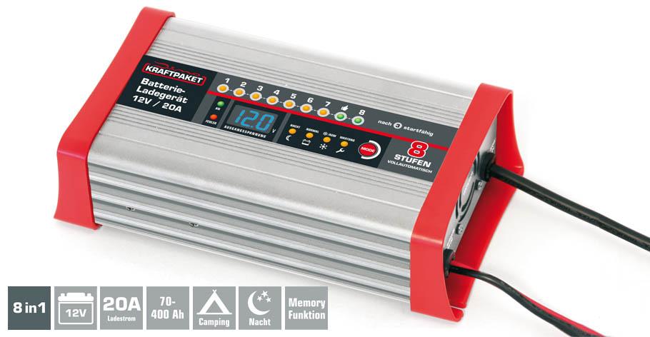 batterieladeger t 12v 20a mit campingfunktion dino kraftpaket