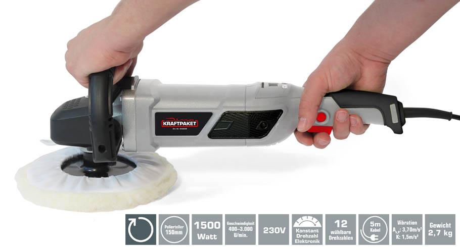 rotations poliermaschine 1500 watt dino kraftpaket. Black Bedroom Furniture Sets. Home Design Ideas