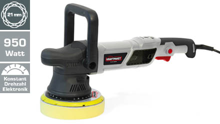 Exzenter-Poliermaschine 21 mm, 950 Watt